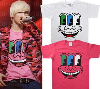 Three Eyed Face Print Graphic Tee T Shirt S M Big Bang Kpop