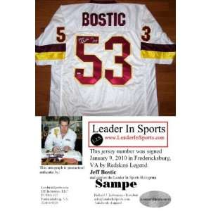 Jeff Bostic Autographed/Hand Signed Jersey   Washington