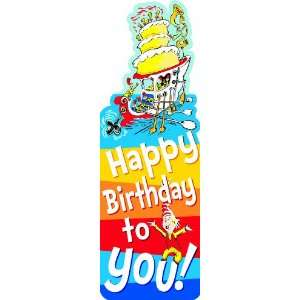 Eureka Dr. Seuss Bookmarks, Set of 36, Happy Birthday