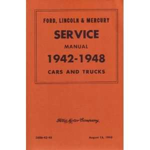 1942 1948 1947 FORD LINCOLN MERCURY Service Manual