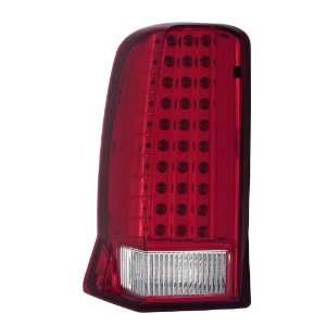 Cadillac Escalade Red/Clear With Lip LED Tail Light Assembly   (Sold