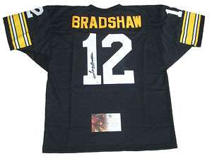 TERRY BRADSHAW SIGNED AUTO PITTSBURGH STEELERS JERSEY