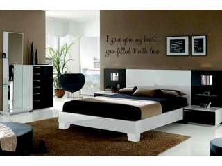 YOU MY HEART Vinyl Wall Decal Words Lettering Quote Bedroom Home 24