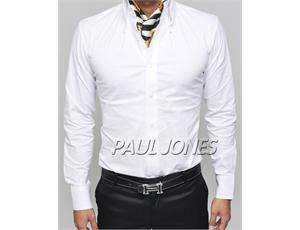 Unique Fashion Stylish Mens Slim Fit Tops Casual Dress Shirts