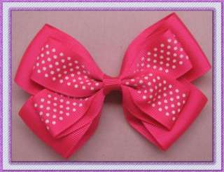 wholesale 35 pcs New Girls Baby Large strip Hair Bow gift Clip flower
