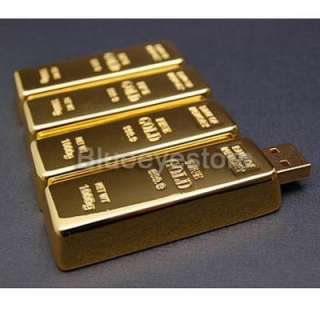 Gold bar usb flash memory 2GB PenDrive can diy the type