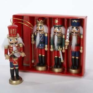 Club Pack of 24 Wooden King, Drummer & Soldier Nutcracker