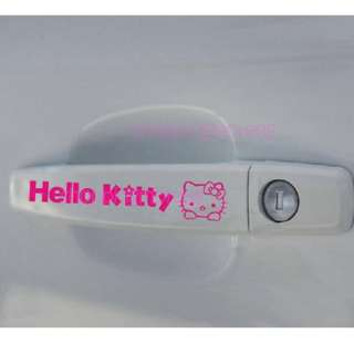 Hello Kitty car Door Handler decal Sticker pink f8