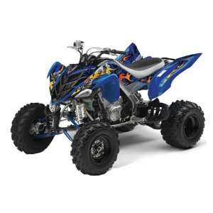 AMR Racing Yamaha Raptor 700 ATV Quad Graphic Kit   Motorhead Blue