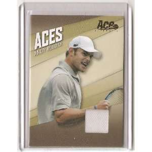 Andy Roddick   2007 Aces Authentic Event Worn Piece of a