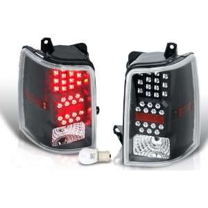 Jeep Grand Cherokee Led Tail Light   Black / Clear