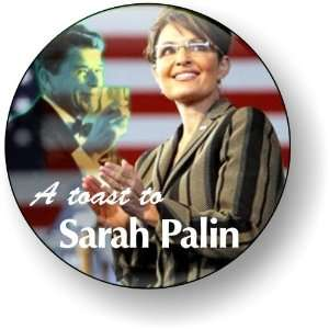 To Sarah Palin Going Rouge Refrigerator Magnet Button Political 2012