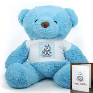 Blue Birthday Cake Chubs Extra Plump Plush Teddy Bear 38in