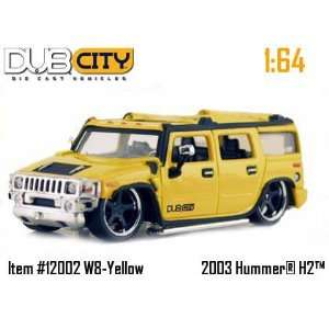 Jada Dub City Yellow 2003 Hummer H2 164 Scale Die Cast