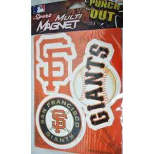 SF GIANTS MLB OFFICIAL TEAM LOGO CAR FRIDGE MAGNET SET (3