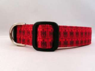 International Harvester IH Red Tractor Dog Collar