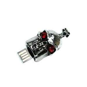 8GB Skeleton Jewelry Cartoon USB Flash Drive Silver