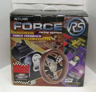 Act Labs FORCE RS USB PC Racing System Steering Wheel & Pedals 14214