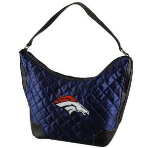 NFL Denver Broncos Ladies Navy Blue Quilted Hobo Purse