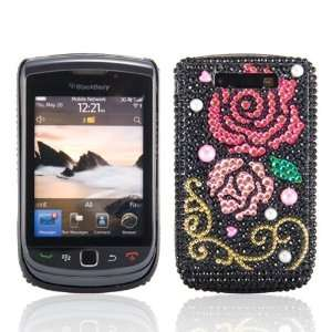 Blackberry 9800 Torch & 9810 Torch 2, Black Pink Rose