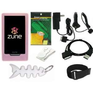 Zune HD 16GB / 32GB Series  Player Pink Silicone Skin Case