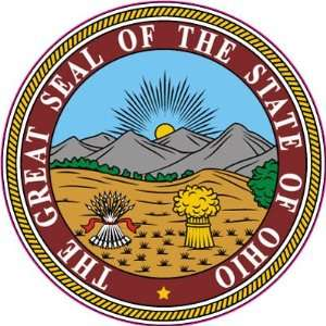 The Great Seal of the State of Ohio United States Car Bumper Sticker