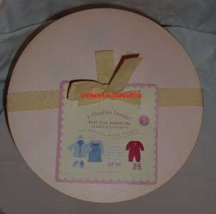 Pottery Barn Kids Baby Doll Wardrobe   New in Original Hat Box
