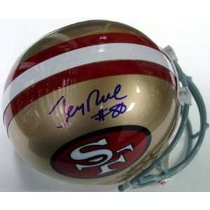 Jerry Rice Signed Helmet   Throwback Full Size Sports