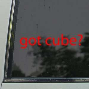 Got Cube? Red Decal Nissan Cube Car Truck Window Red