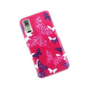 Plastic Design Protector Cover Case Hot Pink Butterfly