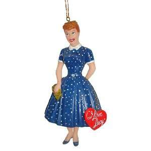 I Love Lucy Lucille Ball Blue Dress with Heart Christmas