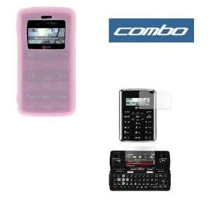 Flexible Soft Pink Silicone Skin Case + Premium Reusable LCD (Outer