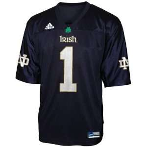 Adidas Notre Dame Fighting Irish #1 Navy Preschool Replica Football