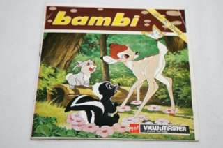 Bambi gaf View Master Reels W/ Sleeve and booklet