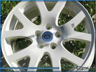 19 RANGE ROVER SPORT LR3 LR4 CUSTOM WHITE WHEELS RIMS