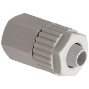 Tube Fitting, Adapter, Gray, 1/4 Tube OD x 1/8 NPT Female (Pack of 5