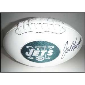 Joe Namath Autographed/Hand Signed Jets Logo Football