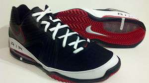 Nike Air Max Quarter Men Basketball Shoes Black Red White Swoosh New