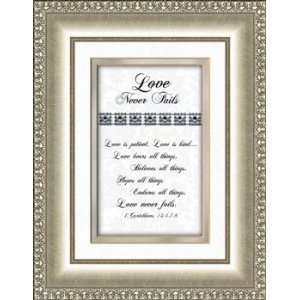 Wedding Anniversary Gift Love Never Fails Love Chapter Framed Print