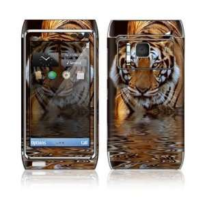 Nokia N8 Decal Skin   Fearless Tiger