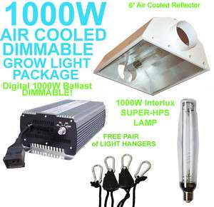 1000W HPS DIGITAL GROW LIGHT AIR COOL HOOD 1000 WATT