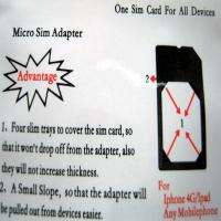Micro SIM Card Adapter Converter for iPhone 3GS 4G