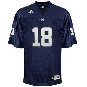 adidas Notre Dame Fighting Irish #18 Navy Blue Replica