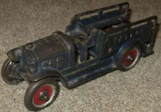 AWESOME ANTIQUE CAST IRON KENTON TOYS PATROL VEHICLE