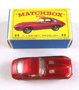 MATCHBOX LESNEY 32 E TYPE JAGUAR, V. RARE E BOX, MIB