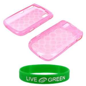 Magenta Crystal Silicone Skin Case for BlackBerry Tour