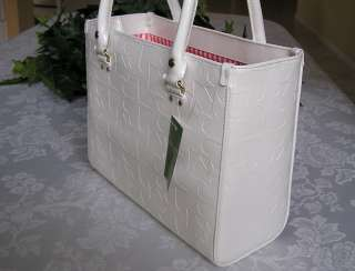 KATE SPADE EMBOSSED ACE OF SPADES QUINN BAG PURSE WHITE NWT