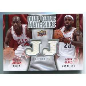 Michael Jordan & LeBron James 2009 Upper Deck Dual Game