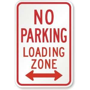 No Parking Loading Zone (both direction arrow) Engineer