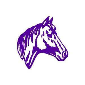 Horse PURPLE Vinyl window decal sticker